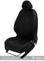 Чехлы Toyota Camry V40 06-12г. черный/отстрочка белая_ экокожа Оригинал