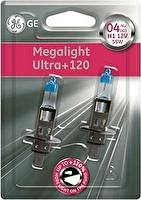 Лампа H1 12V- 55W (P14_5s) (+120% света) Megalight Ultra +120 (блистер 2шт.) GE