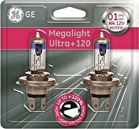 Лампа H4 12V- 60/55W (P43t) (+120% света) Megalight Ultra +120 (блистер 2шт.) GE