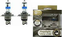 Лампа H4 12V- 60/55W (P43t) (+130% света) Megalight Ultra +130 (блистер 2шт.) GE