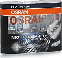 Лампа H7 (55) PX26d+110% NIGHT BREAKER UNLIMITED (евробокс_ 2шт) 12V OSRAM