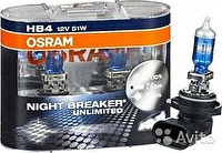 Лампа HB4/9006 (51) P22d+110% NIGHT BREAKER UNLIMITED (евробокс_ 2шт) 12V OSRAM