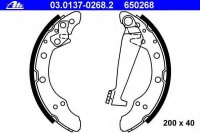 ATE 03.0137-0268.2 Колодки барабанные AD 80 VW G3/Skoda (200x40) (1H0698525)