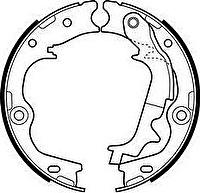 ATE 03.0137-3030.2 Колодки стояночного тормоза HYUNDAI iX35/KIA Sportage III (583052SA30)