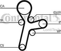 Contitech CT1121 Ремень ГРМ OPEL ANTARA/CHEVROLET CAPTIVA 2.0 VCDi 16V 06-11 (151x22)