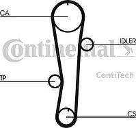 CONTITECH Ремень ГРМ HYUNDAI ACCENT Excel Getz 1.5 1.6 KIA CERATO DOHC (2431226050_ CT942)