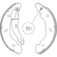 REMSA Колодки барабанные FORD Transit 00-06 /254x52mm (4110585_ 4107.00)