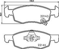 Textar 2214301 комплект тормозных колодок_ дисковый тормоз на OPEL CORSA E Van