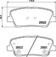 Textar 2552003 комплект тормозных колодок_ дисковый тормоз на HYUNDAI GENESIS купе