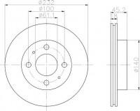 Textar 92090900 тормозной диск на NISSAN ALMERA I (N15)