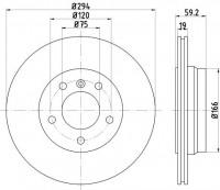 Textar 92097303 тормозной диск на BMW 3 (E46)