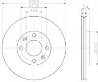 Textar 92111503 тормозной диск на PEUGEOT 208