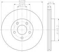 Textar 92141203 тормозной диск на VOLVO V50 (MW)